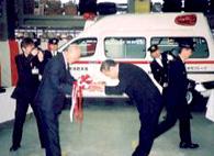 小樽市に救急車を寄贈